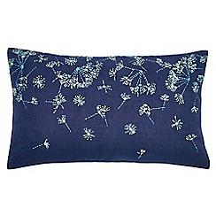 Clarissa Hulse - navy 'Clover Stripe' cushion