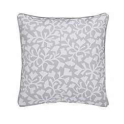 Sanderson - Silver cotton canvas Sanderson Home 'Dawn Chorus' cushion