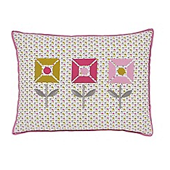 Helena Springfield - Pink polyester and cotton 'Dot' cushion