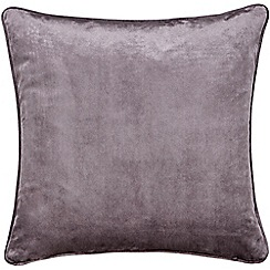 Hotel - Dark purple polyester velvet 'Escala' cushion