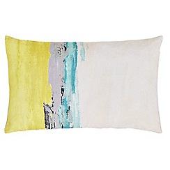 Harlequin - Multicoloured linen 'Floreale' cushion