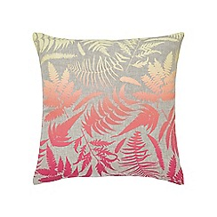 Clarissa Hulse - Multicoloured linen 'Filix' cushion