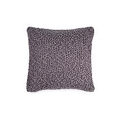 DKNY - Purple nylon 'Geo Clip' knitted cushion