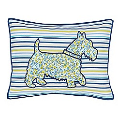 Helena Springfield - Blue polyester and cotton 'Hometown Parade' cushion