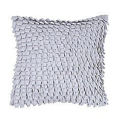 DKNY - Grey cotton 'Horizon' loop applique cushion