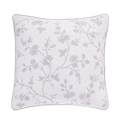 Sanderson - Light purple cotton slub Sanderson Options 'Ida Blossom' cushion