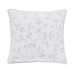 Sanderson - Grey cotton slub Sanderson Options 'Ida Blossom' cushion