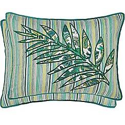 Helena Springfield - Bright green polyester and cotton 'Jacaranda' breakfast cushion