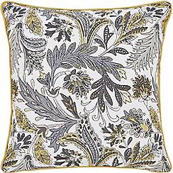 Helena Springfield - Dark grey cotton half panama 'Jacaranda' matching cushion
