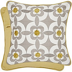 Helena Springfield - Light yellow cotton 'Josey' cushion