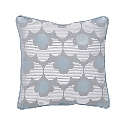 Helena Springfield - Pale blue cotton panama 'Lily' cushion