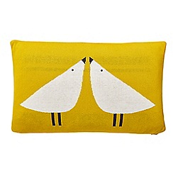 Scion - Yellow cotton 'Lintu' bird cushion