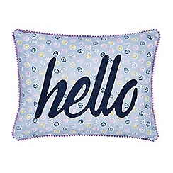 Helena Springfield - Blue polyester and cotton 'Melody' cushion