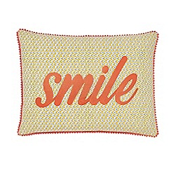 Helena Springfield - Bright orange polyester and cotton 'Melody' cushion