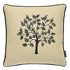 Morris & Co - Black 'Morris Seaweed' cushion