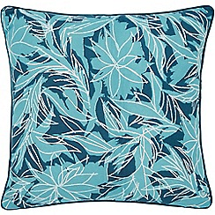 Helena Springfield - Blue cotton half panama 'Oasis Oceanic' matching cushion