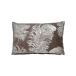 Harlequin - Light brown cotton velvet 'Operetta' cushion
