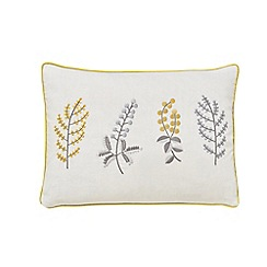Sanderson - Light grey cotton slub Sanderson Home 'Paper Doves' cushion