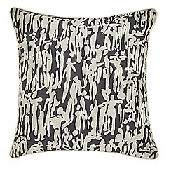 Harlequin - Dark grey cotton slub 'People' Cushion