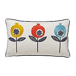 Scion - Multicoloured cotton panama 'Pepino' cushion