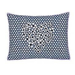 Helena Springfield - Blue polyester and cotton 'Pixie' cushion