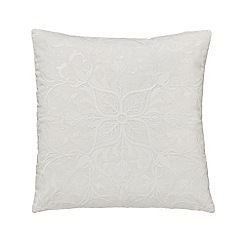 Morris & Co - Natural cotton slub 'Pure Lodden' cushion