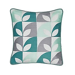 Helena Springfield - Aqua cotton panama 'Posy' cushion