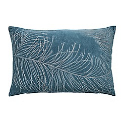 Harlequin - Blue cotton velvet 'Postelia' cushion