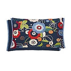 V & A - Multicoloured linen and cotton 'Primula' cushion