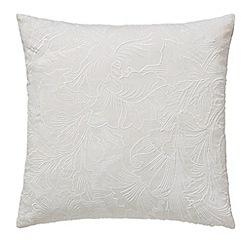 Morris & Co - Silver cotton slub 'Pure Sunflower' cushion