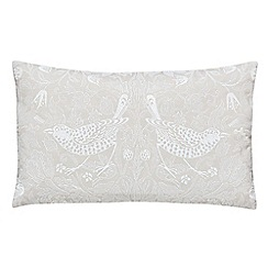 Morris & Co - Natural cotton slub 'Pure Strawberry Thief' cushion