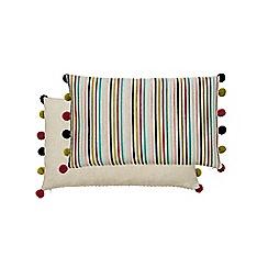 Harlequin - Multicoloured linen 'Quintessence' cushion