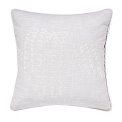 Sanderson - Light purple cotton slub Sanderson Options 'Rhodera' cushion