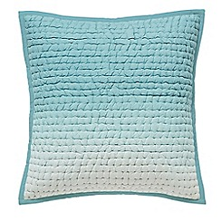 Designers Guild - Light blue cotton 'Saraille' quilted cushion