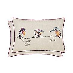 Harlequin - Plum linen 'Salice' cushion