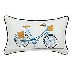 Scion - Light Grey 'Snow drop' cushion