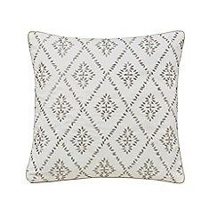 Sanderson - Natural cotton slub Sanderson Home 'Sundial' cushion