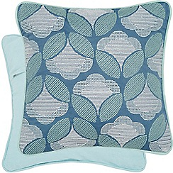Helena Springfield - Light blue cotton 'Sylvie' cushion