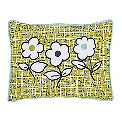 Helena Springfield - Blue polyester and cotton 'Tess' cushion