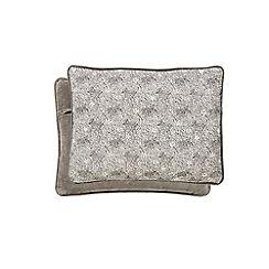 Fable - Grey cotton velvet 'Timor' cushion