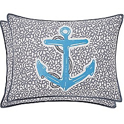 Helena Springfield - Royal Blue polyester and cotton 'Tropez' breakfast cushion