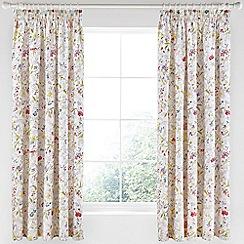 V & A - Multicoloured cotton sateen 'Botanica' curtains