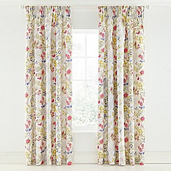 V & A - Multicoloured cotton sateen 'Chinese Bluebird' curtains