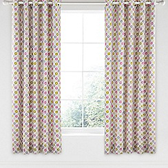 Helena Springfield - Pink cotton half panama 'Dot' curtains