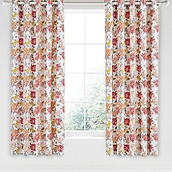 Helena Springfield - Bright orange cotton half panama 'Fay' curtains