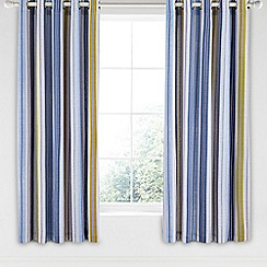 Helena Springfield - Blue cotton half panama 'Melody' curtains