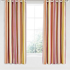 Helena Springfield - Bright orange cotton half panama 'Melody' curtains