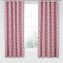 Helena Springfield - Pink cotton half panama 'Penny' curtains