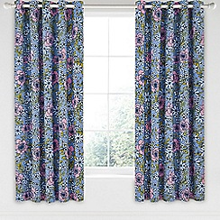 Helena Springfield - Blue cotton half panama 'Pixie' curtains