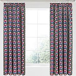 V & A - Multicoloured cotton sateen 'Primula' curtains